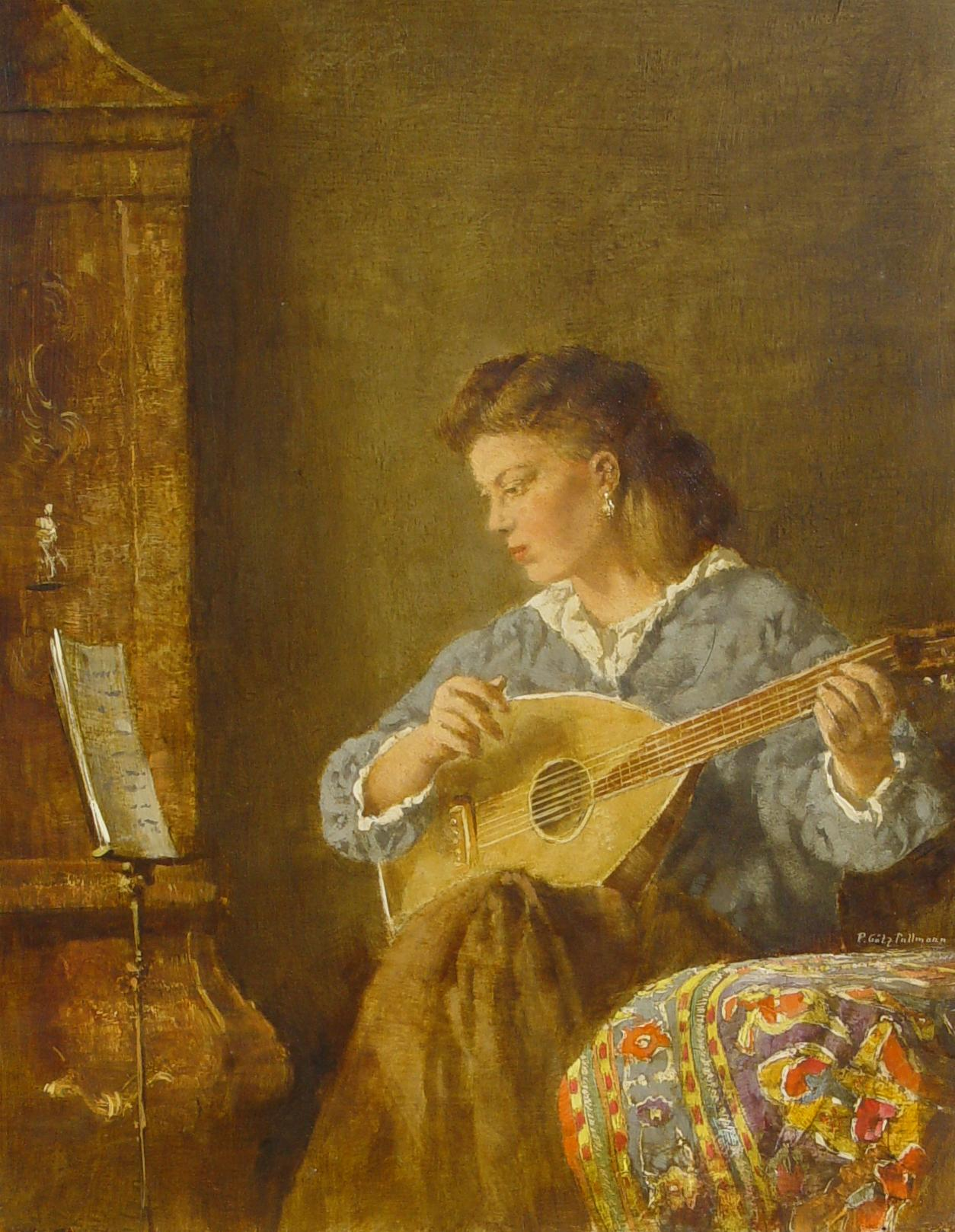 Peter Götz Pallmann Laute Gitarre Barock Musik Noten Kelim